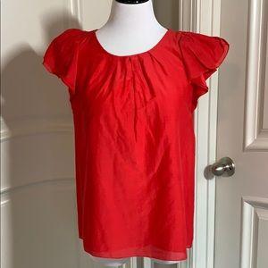 Alfani flutter sleeves blouse
